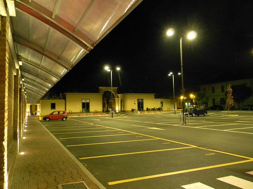 illuminazione parcheggio pubblico stefano pisani